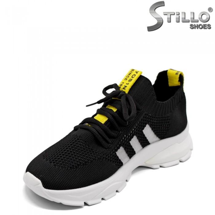 Pantofi dama sport dama de culoare negru si galben - 33286