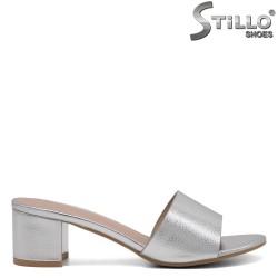 Saboti dama de culoare argintiu - 33290