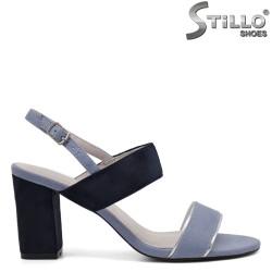 Sandale dama elegante din velur - 33298
