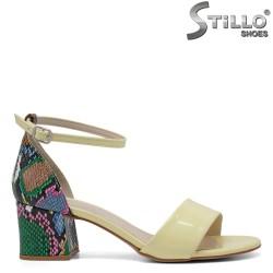 Sandale dama de culoare galben cu toc tip sarpe - 33299
