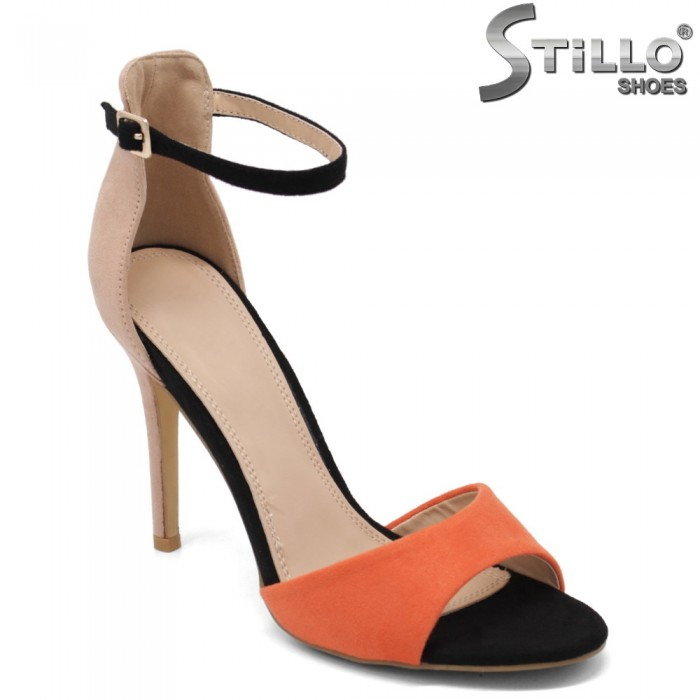 Sandale dama colorate cu toc inalt subtire - 33304