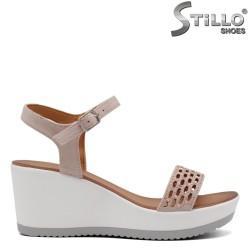 Sandale dama pe platforma cu pietricele - 33305