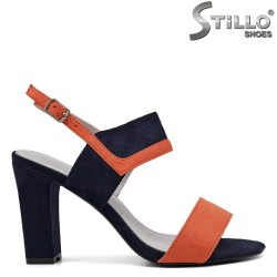 Sandale dama cu toc gros - 33308