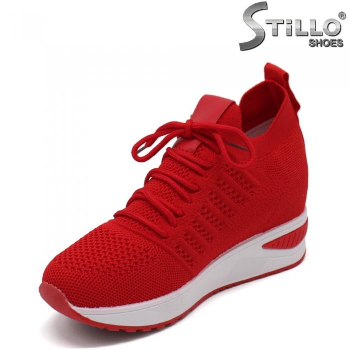 Pantofi dama tip sport de culoare rosu - 33310