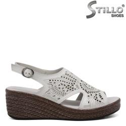 Sandale dama din piele naturala pe platforma - 33315