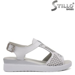 Sandale dama de culoare alb din piele naturala - 33316
