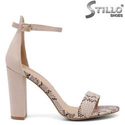 Sandale dama cu toc inalt si stampa tip sarpe - 33320