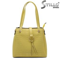 Geanta dama de culoare galben - 33324
