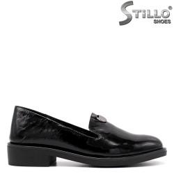 Pantofi dama din lac natural de culoare negru - 33365