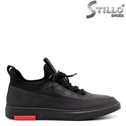 Pantofi barbati din piele naturala de culoare negru - 33374