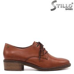 Pantofi dama din piele naturala si cu sireturi - 33376