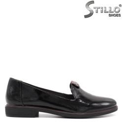 Pantofi dama din lac de culoare negru - 33379