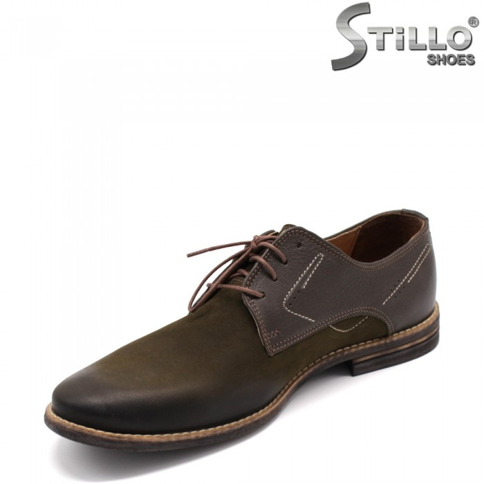 Pantofi barbati cu sireturi din nubuc - 33397