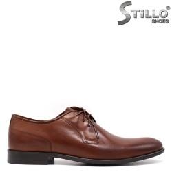 Pantofi barbati din piele naturala de culoare maron- 33398