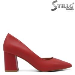 Pantofi dama de culoare rosu cu toc mijlociu - 33402