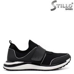Pantofi barbati sport de culoare negru din strech - 33408
