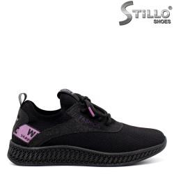 Pantofi dama sport cu accent de culoare mov - 33413