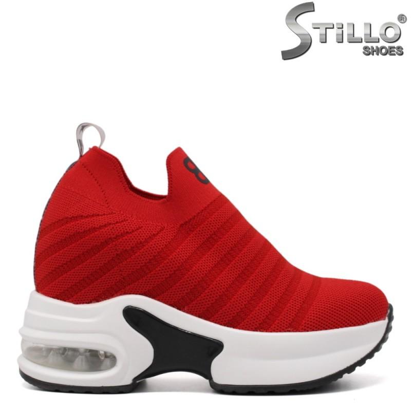 Pantofi dama sport de culoare rosu - 33414