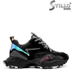 Pantofi dama sport de culoare negru - 33428