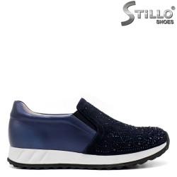 Pantofi dama sport din piele naturala si velur - 33448