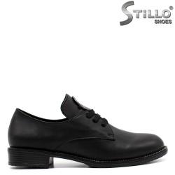 Pantofi dama din piele naturala si cu sireturi - 33460