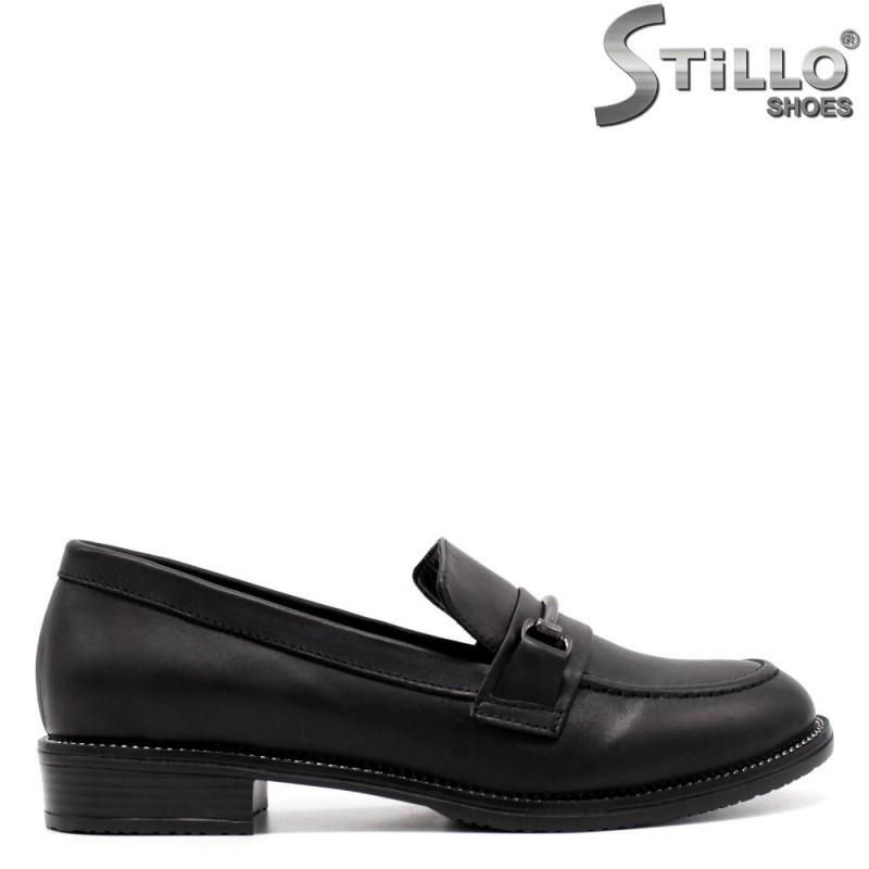 Pantofi dama mocasini de culoare negru- 33465