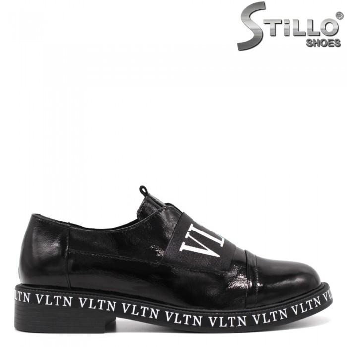 Pantofi dama moderni din lac de culoare negru - 33466
