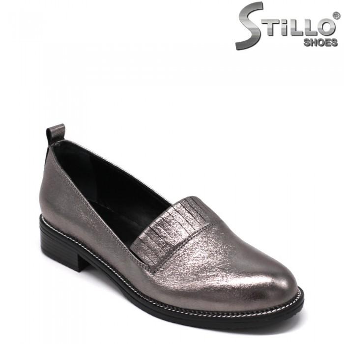 Pantofi dama de culoare argintiu cu toc jos - 33468