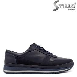Pantofi barbati sport de culoare albastru inchis cu sireturi - 33469