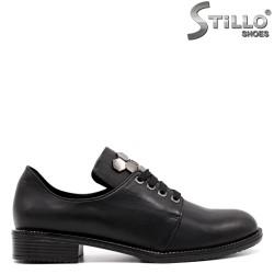 Pantofi dama din piele naturala si cu sireturi - 33473