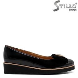 Pantofi dama din lac de culoare negru - 33494