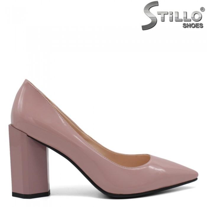 Pantofi dama de culoare mov cu toc inalt - 33496
