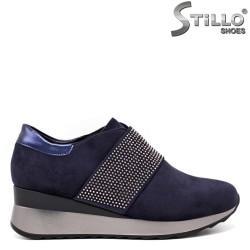 Pantofi dama sport de culoare albastru.- 33518