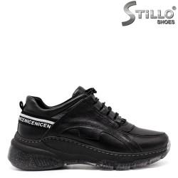 Pantofi dama sport din piele naturala si cu sireturi - 33525