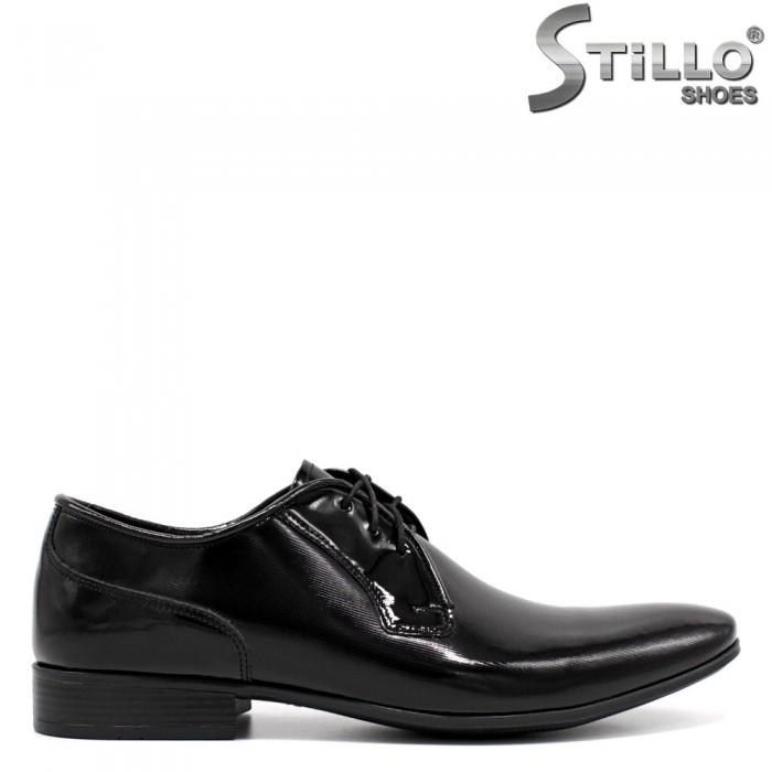 Pantofi barbati de ocazie  si cu sireturi - 33529