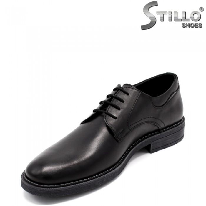 Pantofi barbati de ocazie cu sireturi - 33531