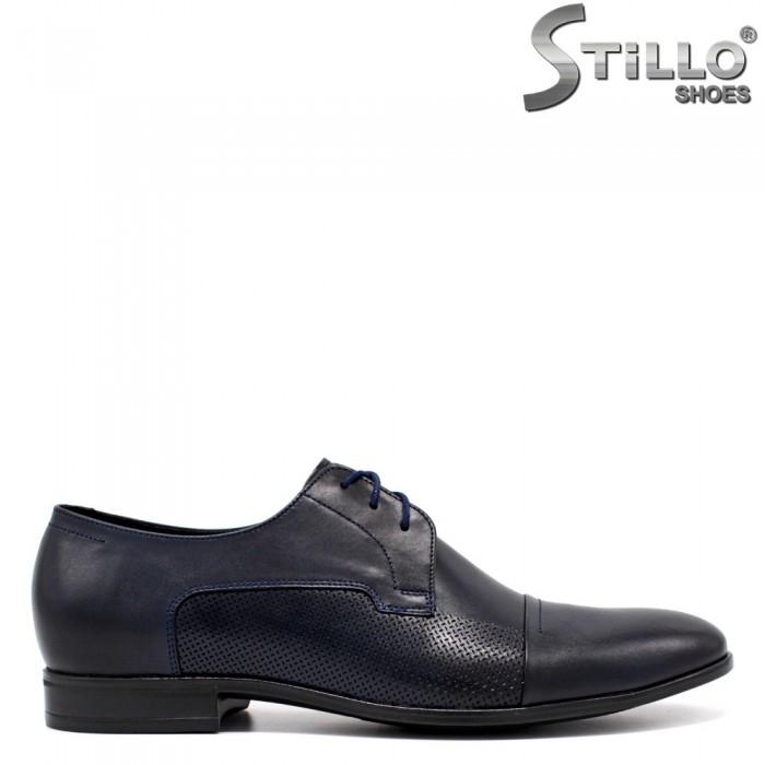Pantofi barbati de ocazie de culoare albastru - 33532
