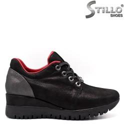 Pantofi dama sport din nubuc natural - 33547