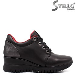 Pantofi dama sport eleganti de culoare negru si bronz - 33550