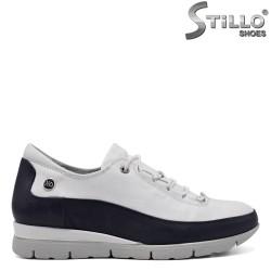 Pantofi dama sport de culoare alb si albastru - 33551