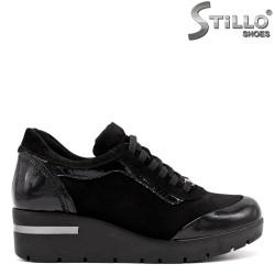 Pantofi dama sport din velur natural si lac - 33552