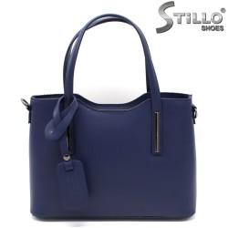 Geanta dama de culoare albastru din piele naturala - 33575