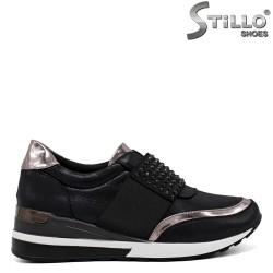 Pantofi dama sport din velur si cu pietricele - 33612