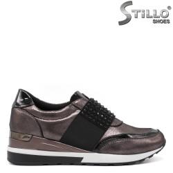 Pantofi dama sport de culoare bronz - 33614