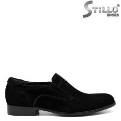 Pantofi barbati din velur natural de culoare negru - 33617