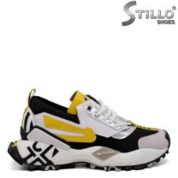 Pantofi dama sport de culoare alb,negru si galen - 33662