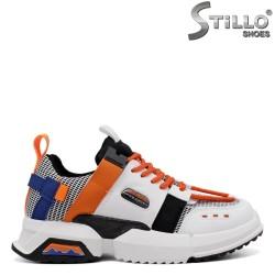 Pantofi dama sport de culoare negru si portocaliu-33679