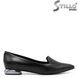 Pantofi dama din piele cu toc jos - 33689