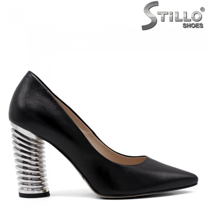 Pantofi dama cu toc inalt metalic - 33754