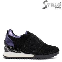 Pantofi dama sport din plasa de culoare negru si cu pietricele - 33903